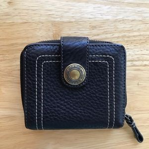 Coach Leather Snap Zipper Wallet